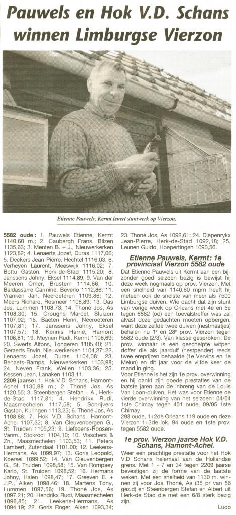 Etienne Pauwels Brieftauben markt Zuechter 9992