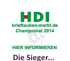 Die Sieger des  HDI brieftauben-markt Championats 2014